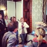 Alexandra Palla präsentiert am Foodcamp 2013 den Foodblogaward